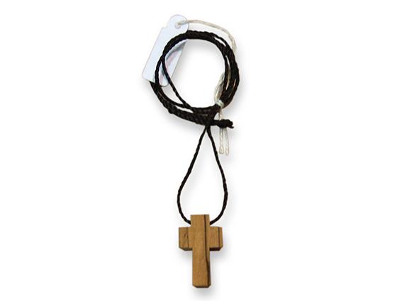 colgante cruz madera olivo