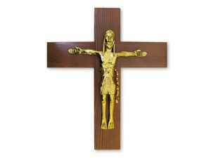 cruz cristo pared madera