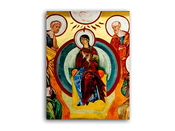 icono virgen pentecostes