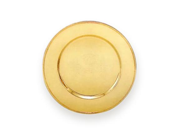 patena dorada redonda