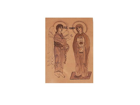 funda biblia salterio icono anunciación